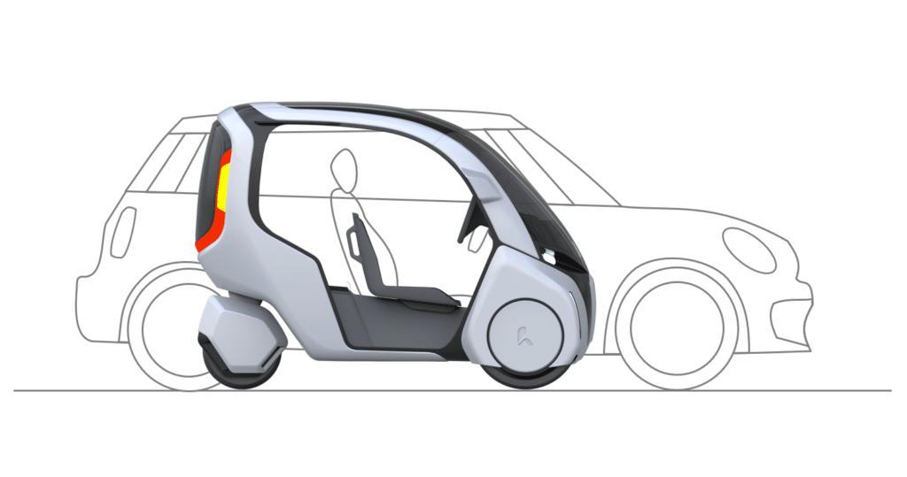 Größenvergleich Hopper und Auto - Hopper Kleiner aber verhältnismäßig mehr nutzbarer Platz